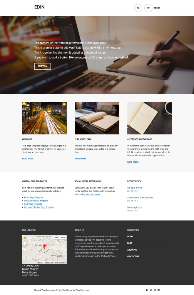 edin-front-page-template